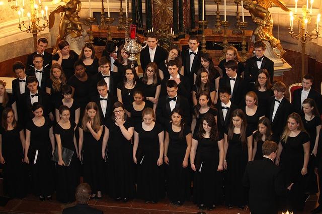 Pěvecký sbor zpívá gospel